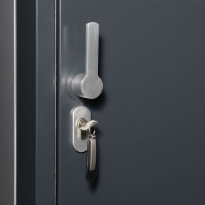 Door lock with profile half-cylinder
